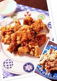 我が家の定番♡鶏、豚の簡単ザクザク唐揚げ