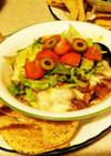 ひき肉とポテトのエンチラダ