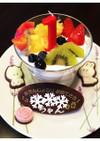 1歳誕生日☆全部食べてねフルーツパフェ!