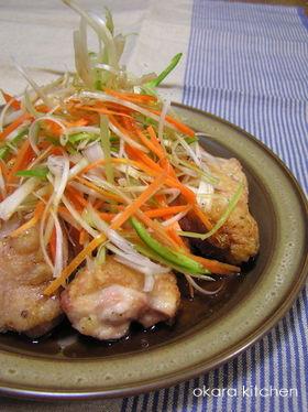鶏カラの 中華風三杯酢
