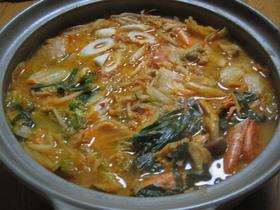 ☆海老のダシで☆簡単激ウマ!味噌キムチ鍋