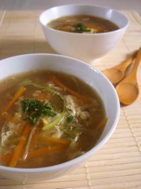 残った干し椎茸戻し汁で簡単スープ