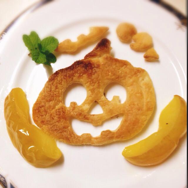 サクサクパイと焼きりんご☆ハロウィン☆