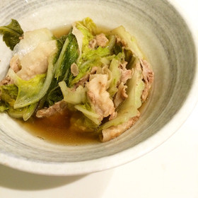 旬の白菜と豚肉のとろとろ柔らかうま煮