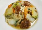 白菜と肉団子の中華風スープ 春雨入り♬