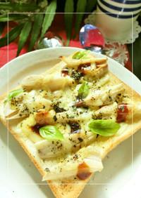 蓮根のデミグラマヨチーズトースト
