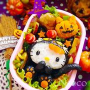 キャラ弁★ハロウィン黒猫キティちゃん立体の写真