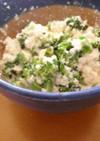 クリームチーズ香るブロッコリーの豆腐和え