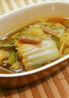 白菜とぜんまいのピリ辛スープ