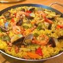 カレー粉と無洗米で作る簡単パエリア