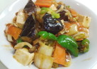 クックドゥで野菜たっぷり 麻婆中華丼?
