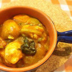 野菜スープのカレー