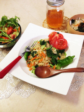 生活習慣病、ダイエット向き玄米チャーハン