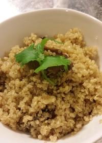 変わりご飯:ポルチーニ茸入りキヌア