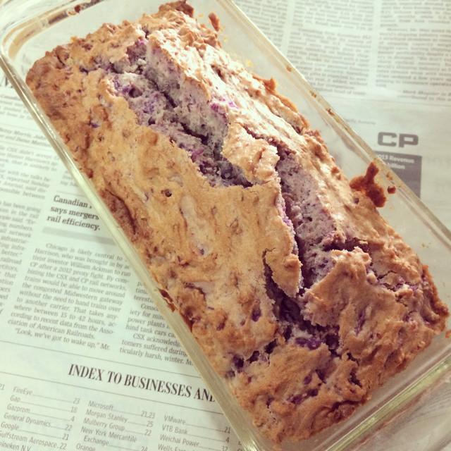 パープルスィートロードのパウンドケーキ
