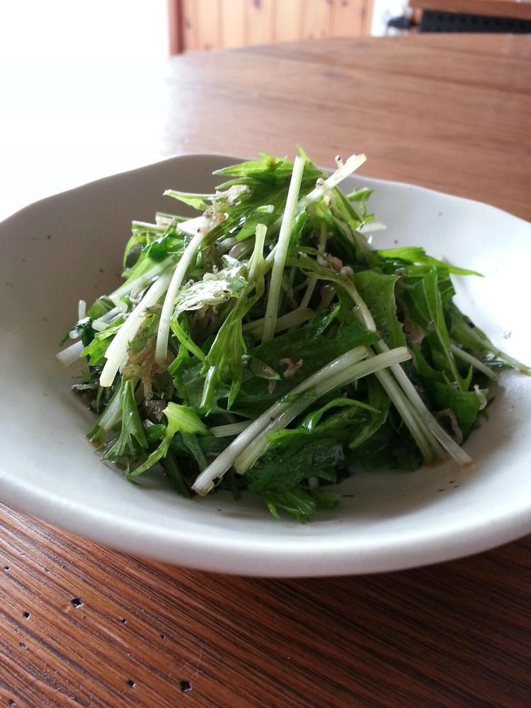 やみつき!水菜とじゃこのはりはりサラダ
