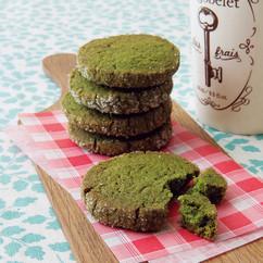 抹茶のバタークッキー