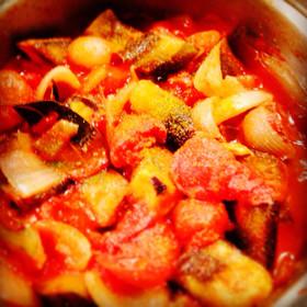 茄子のラタトゥイユ☆鍋1つで簡単な副菜