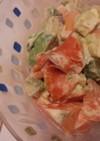 柿のアボカドクリチサラダ(塩レモン活用)