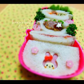 お弁当 キャラ弁♡サンドイッチ マイメロ