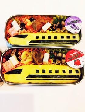 電車、新幹線のキャラ弁☆ドクターイエロー