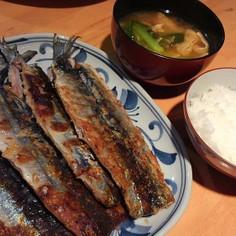 秋刀魚の塩レモンムニエル