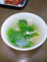 硬い葉でも美味しく♪レタスのスープの写真