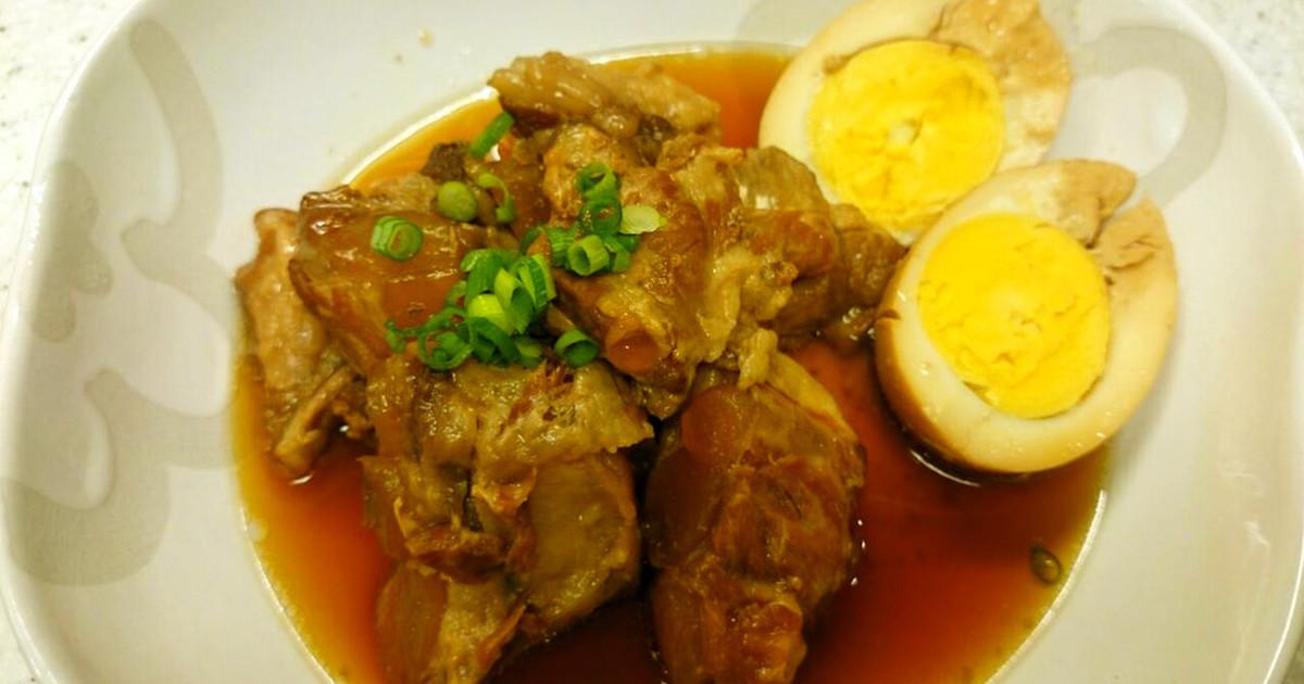 圧力鍋で豚軟骨の煮込み(ソーキ) by maco'sキッチン