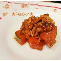 お弁当*かぼちゃと豚バラ肉のこってり煮