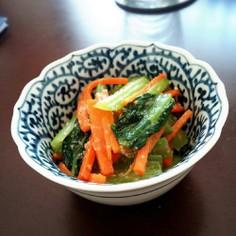 小松菜とにんじんのゴマ味噌あえ