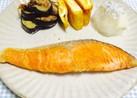 【 フライパンで鮭の塩焼き♪】