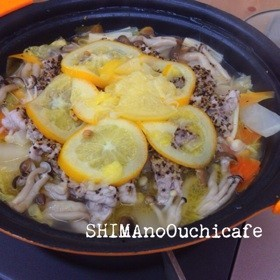 豚コマと白菜の塩レモン鍋
