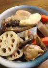 秋♡根菜と鶏肉とこんにゃくの煮物