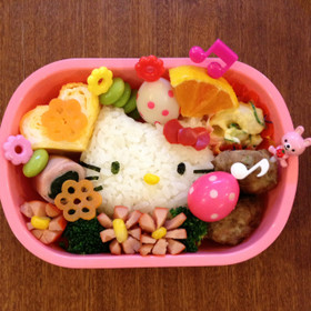 キャラ弁☆キティちゃん☆女の子弁当
