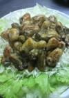 牡蠣のバタ-醤油炒め。