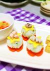 1歳の離乳食誕生日プレート*手毬寿司