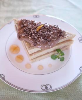 糖質制限♪オレンジ風味のチョコケーキ