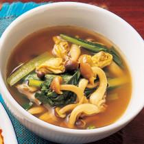 小松菜とあさりのカレースープ