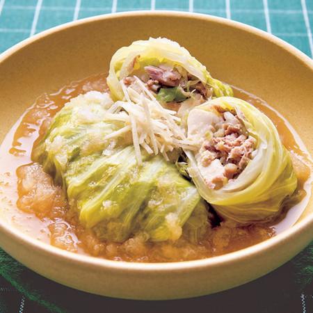 豆腐の和風ロールキャベツ