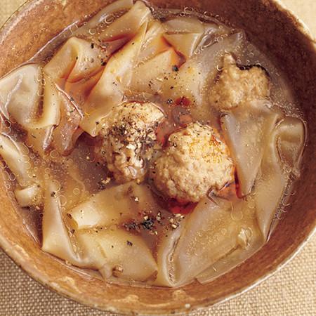 餃子風スープ