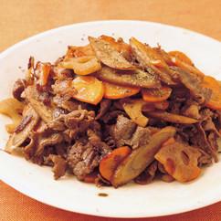 牛肉と根菜のきんぴら