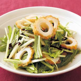 水菜と塩昆布のサラダ