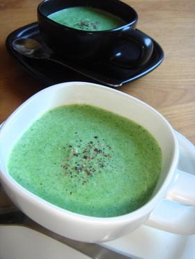 春菊と豆腐のミルクスープ