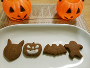 ココアのクッキーでハロウィンの写真