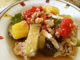 豚肉&パイナップル&野菜のさっぱり炒め