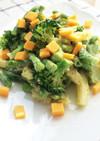 ブロッコリーとポテトのバジルソースサラダ
