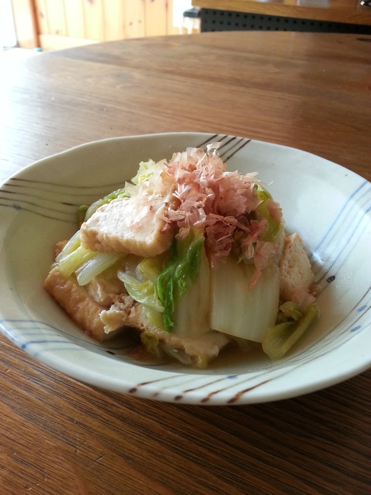 しみるわぁ~。白菜と厚揚げの炒め煮