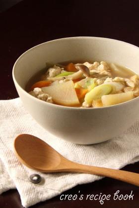 簡単!けんちん汁風スープ