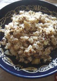 茄子と挽肉の炒飯