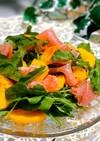 柿とルッコラと生ハムのサラダ♡